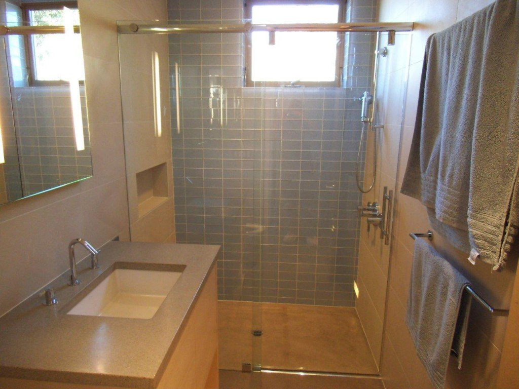 "3/8"" Frameless Shower Door Installation by Old Town Glass"