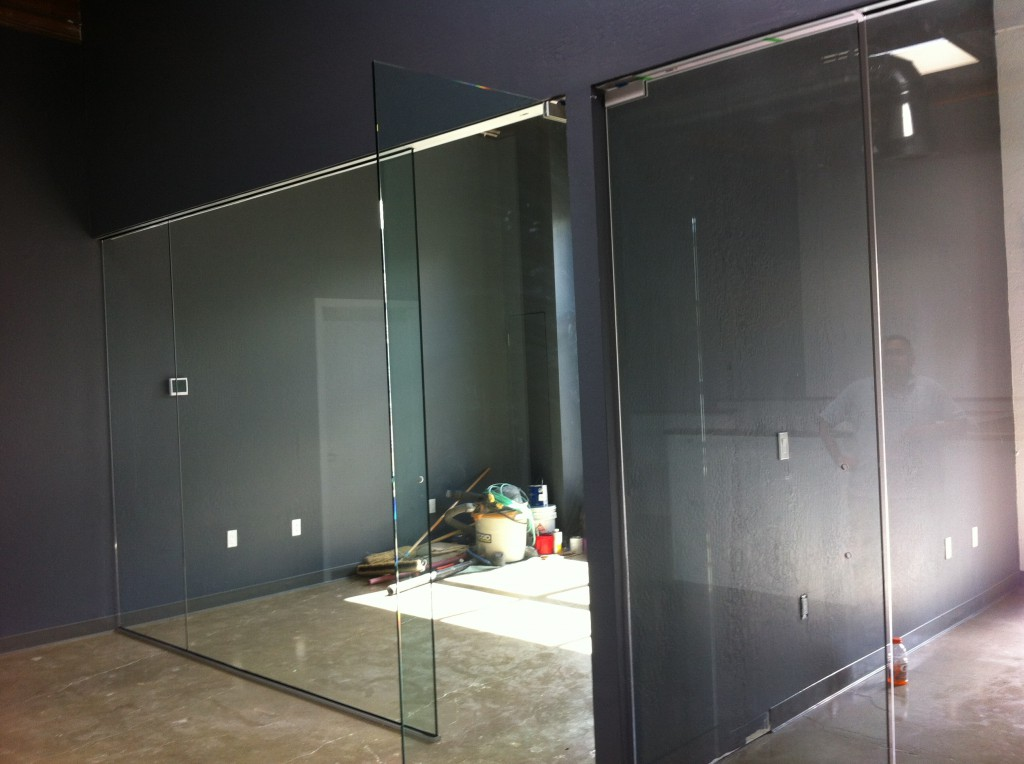 "OId Town Glass Project in Novato with Custom 1/2"" Glass Interior Walls"
