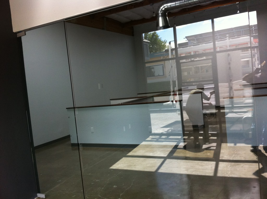 "1/2"" Glass in Commercial Building in Novato, CA. Features Floor to Ceiling Glass Office Wall"