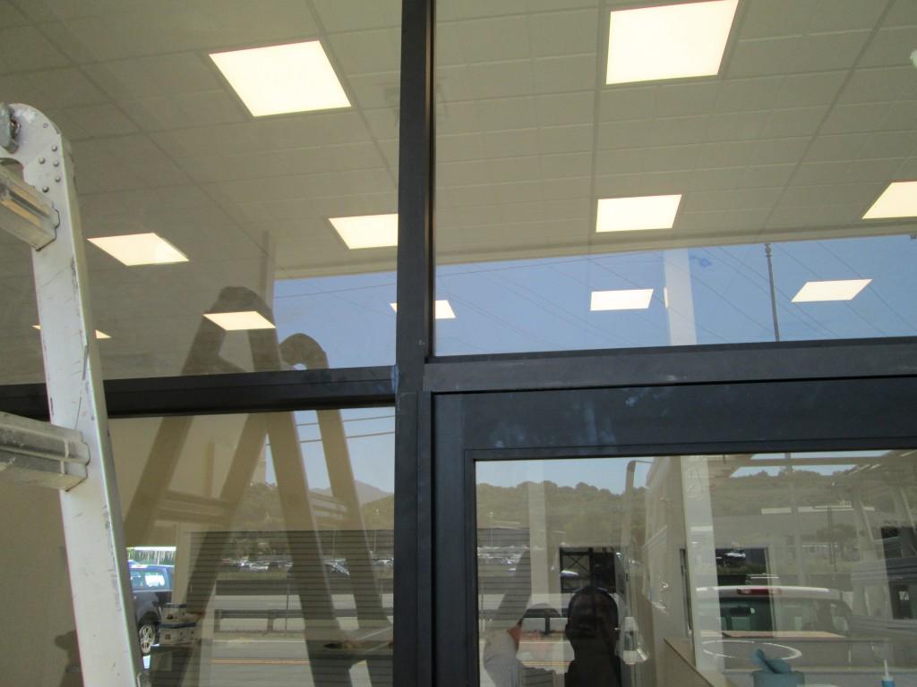 Arcadia Storefront Door, Close Up of Header