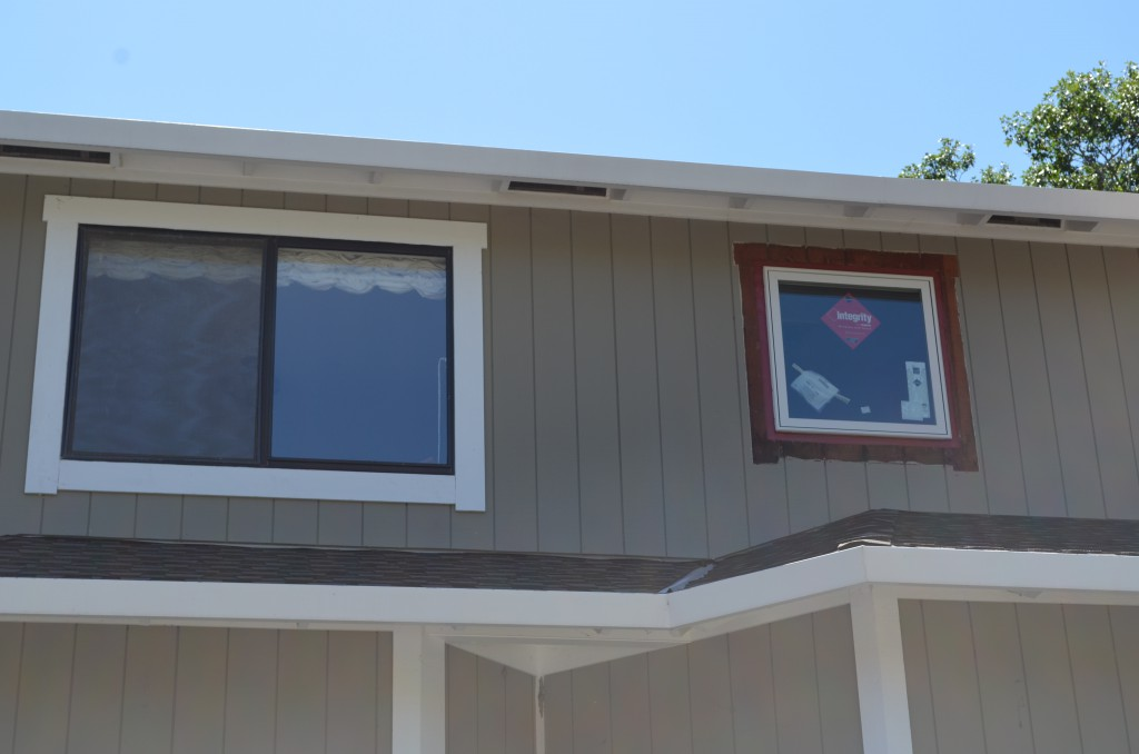 Marvin Integrity Window on the right hat replaced an original aluminum window.  Left is still original.