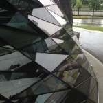 BMW Werks, Glass Facade with Geometric Shaped Glass