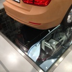 Structural Glass Floor Supporting a BMW Mold