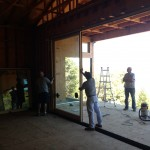 Installation of panels on a Marvin Lift and Slide Door System