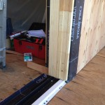 Marvin Lift and Slide Dooor Installation. Photo shows track and jambs