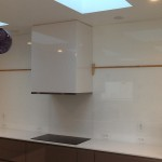 Kitchen Backsplash with Starphire Glass that has been Tempered and Back Painted