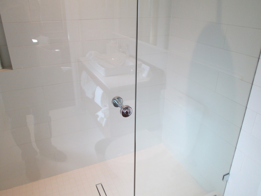 Portals Shower Door Hardware, Knob in Polished Chrome