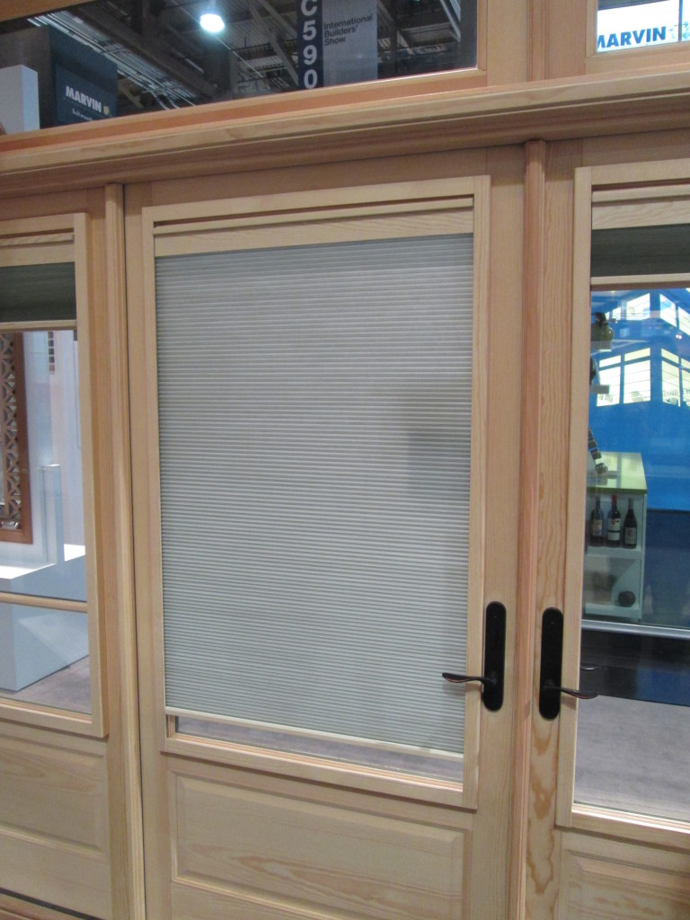 Marvin Interior Shade on a Swinging Hinged Door Shown in the Closed Position