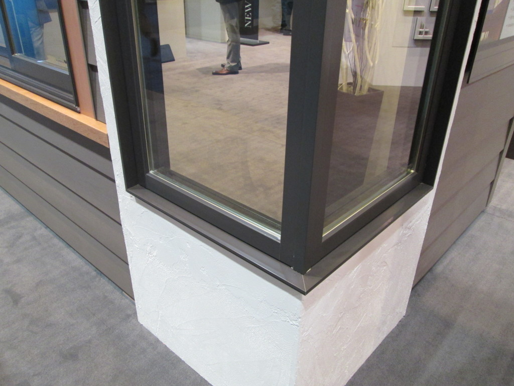 Marvin In Sash (Casement) 90 Degree Corner Windows with Insulated Glass.  Photo From Marvin IBS Booth, 2014