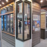 Shows both sides of Marvin's In Sash 90 Degree Corner Unit.  From IBS 2014 Marvin Booth