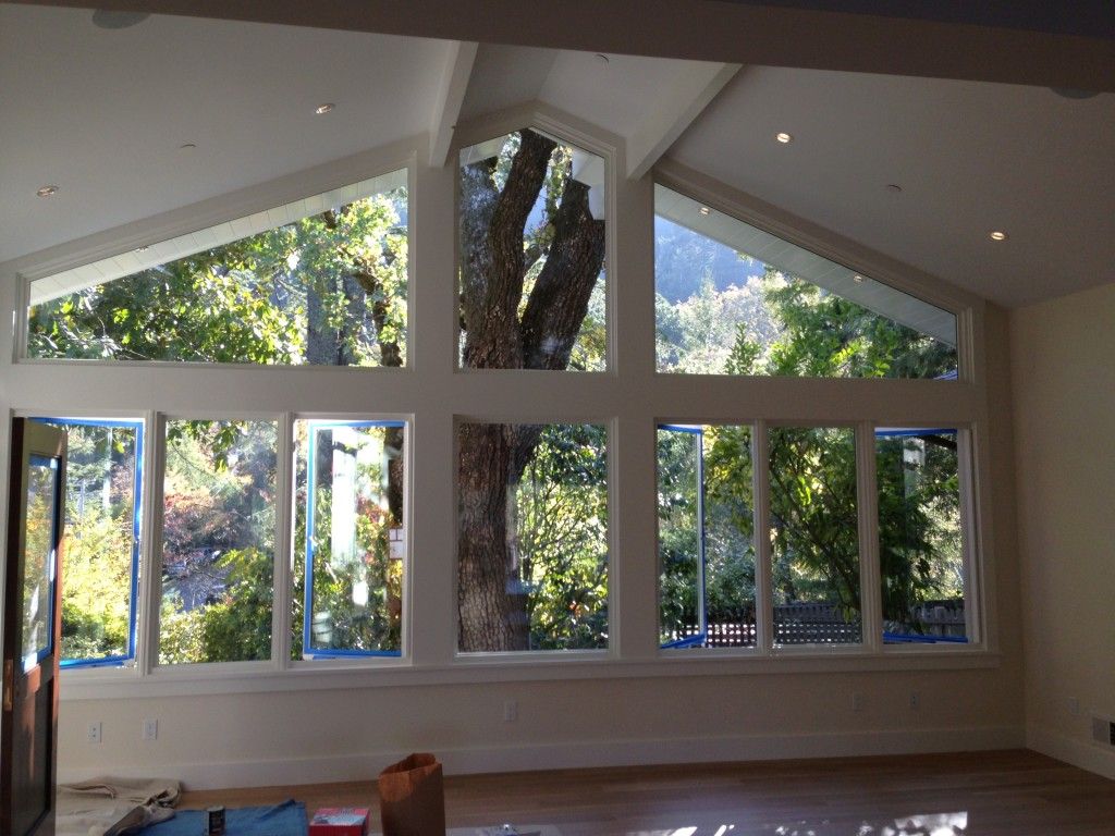 Marvin Direct Glaze Polygon Rectangles and Pushout Casement Windows.  All Features Square Sticking in Ross, CA