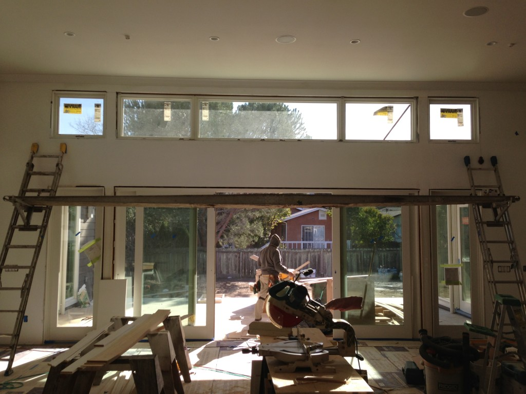 Marvin OXXO Clad Ultimate Sliding French Doors with Awning Windows Used as Transoms