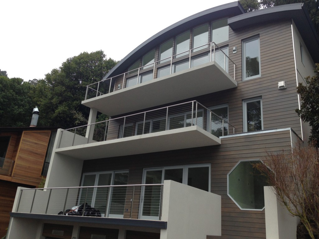 Modern Sausalito Project with Marvin Cumulus Gray Clad Windows and Doors