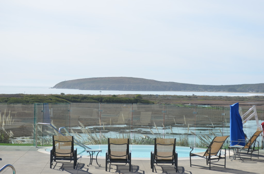 Amazing View of Bodgea through the Glass Pool Enclosure