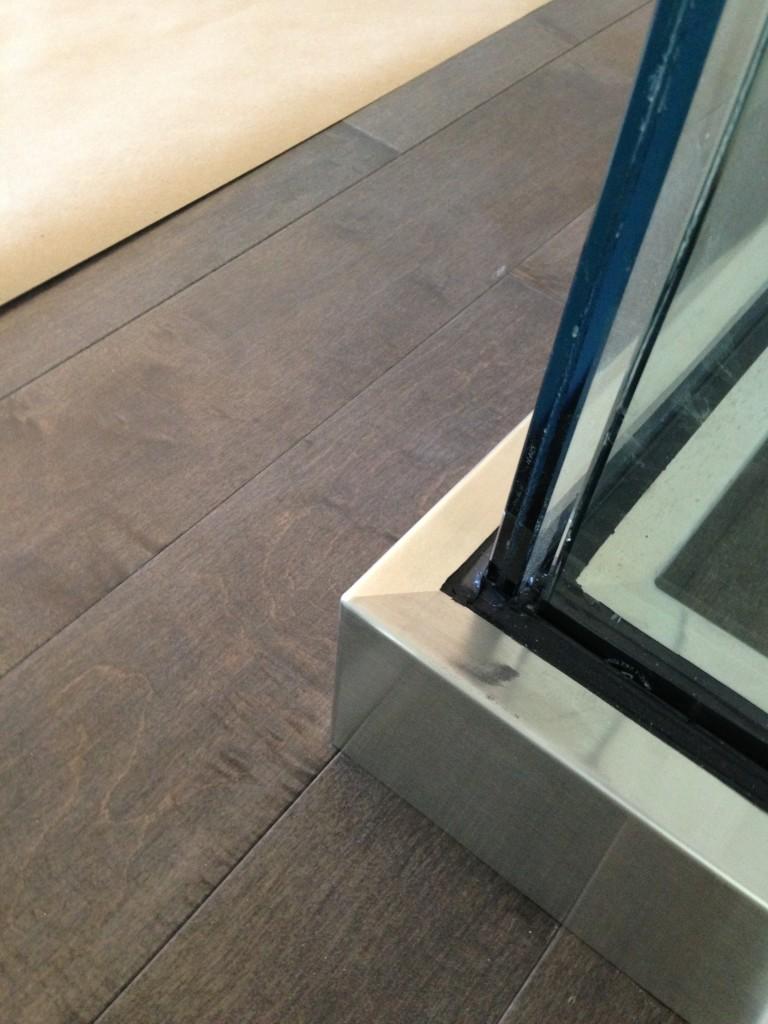 Custom Welded Base Shoe Cover for Deck Railing.