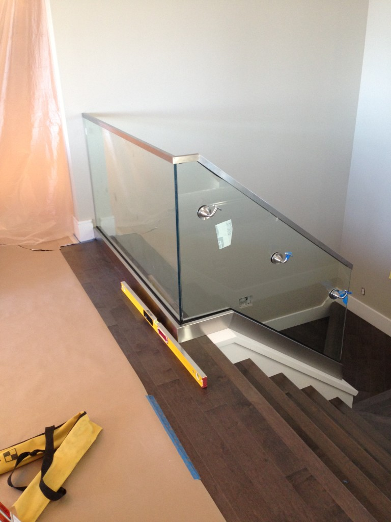 Interior Stairwell with Glass Guardrail