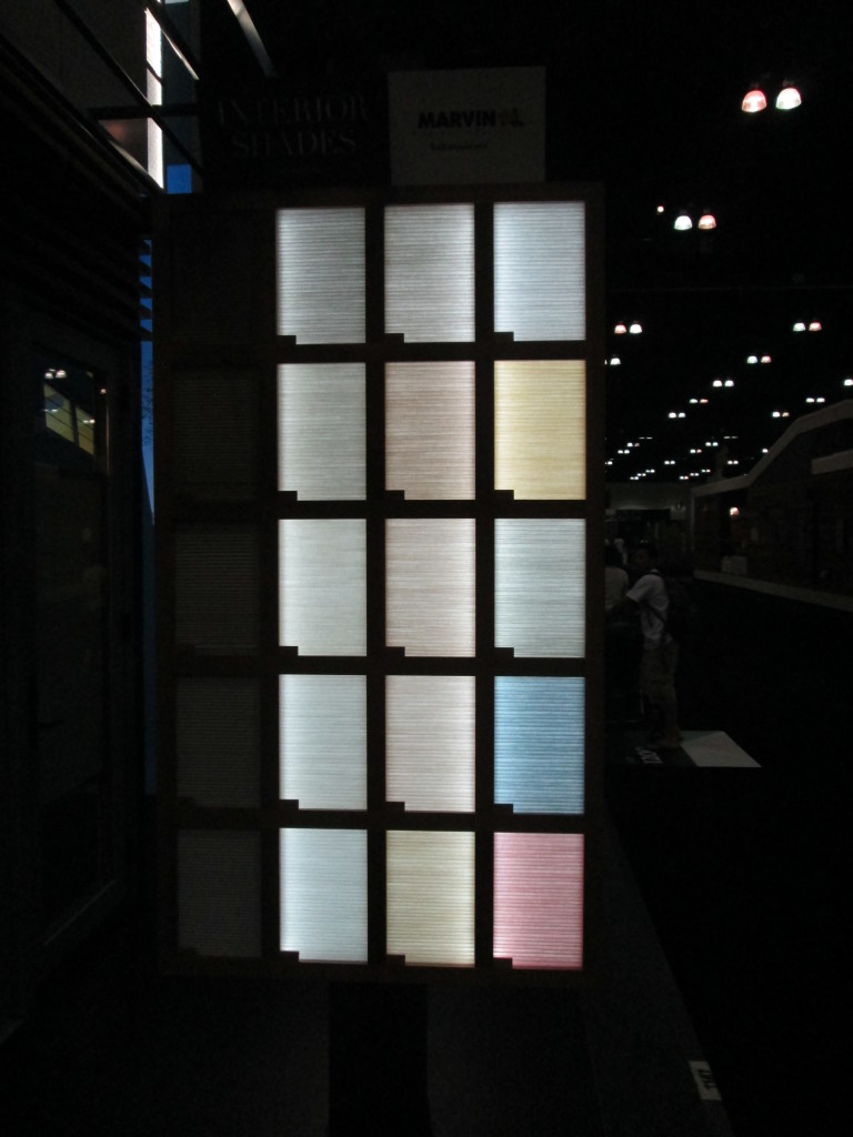 Marvin Interior Shade Display