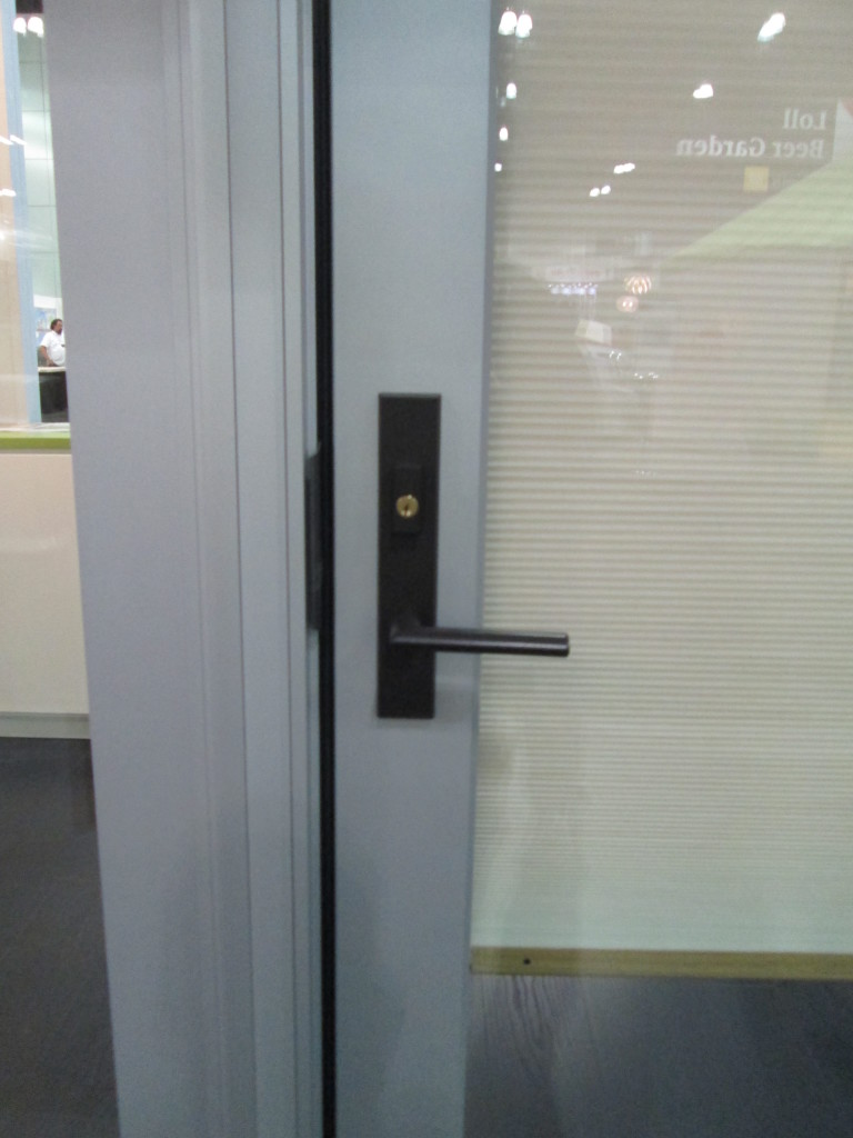 Marvin Contemporary Hardware in Oil Rubbed Bronze.  For Hinged Doors