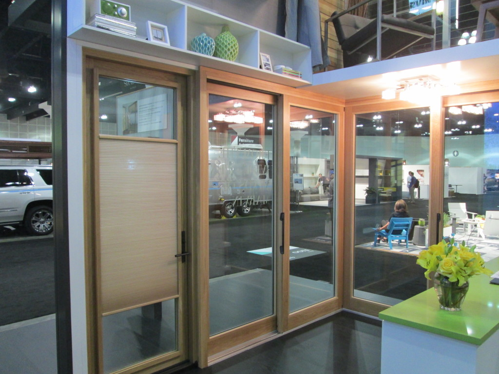 Marvin Lift and Slide Door, Oak Interior with Clear Finish