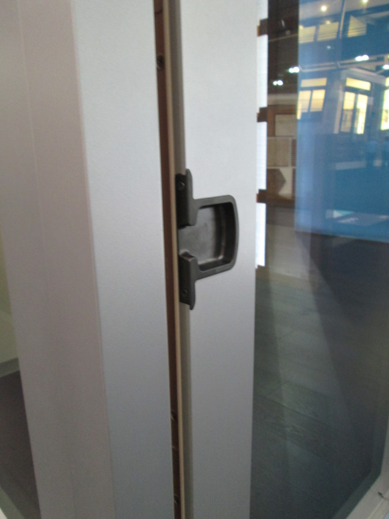 Flush Finger Pull on Marvin Lift and Slide Door, Oil Rubbed Bronze