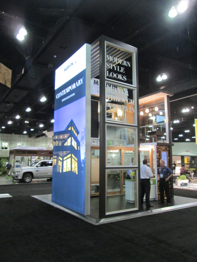 View of the Marvin Booth, Showing stacked Direct Glaze Units