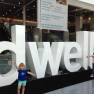 On day 2 at Dwell on Design, the kids joined me.  It is the only tradeshow in the industry that I have been too that is kid and stroller friendly.