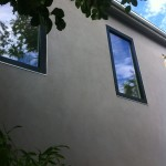 Fire Rated Window with Wood Black GPX Cladding to Match Marvin Ebony Exterior