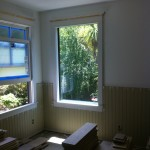 Marvin Clad Ultimate Double Hung Window on Left Safti First Fire Rated Window on Right