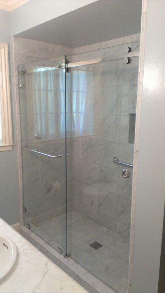 "CRL's Serentiy Series Glass Shower Enclosure with 3/8"" Clear Tempered Glass"