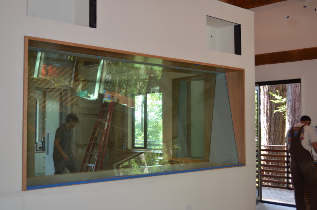 Control Booth Glass for Sound Studio.  Each Pane features Dupont Sentry Interlayer