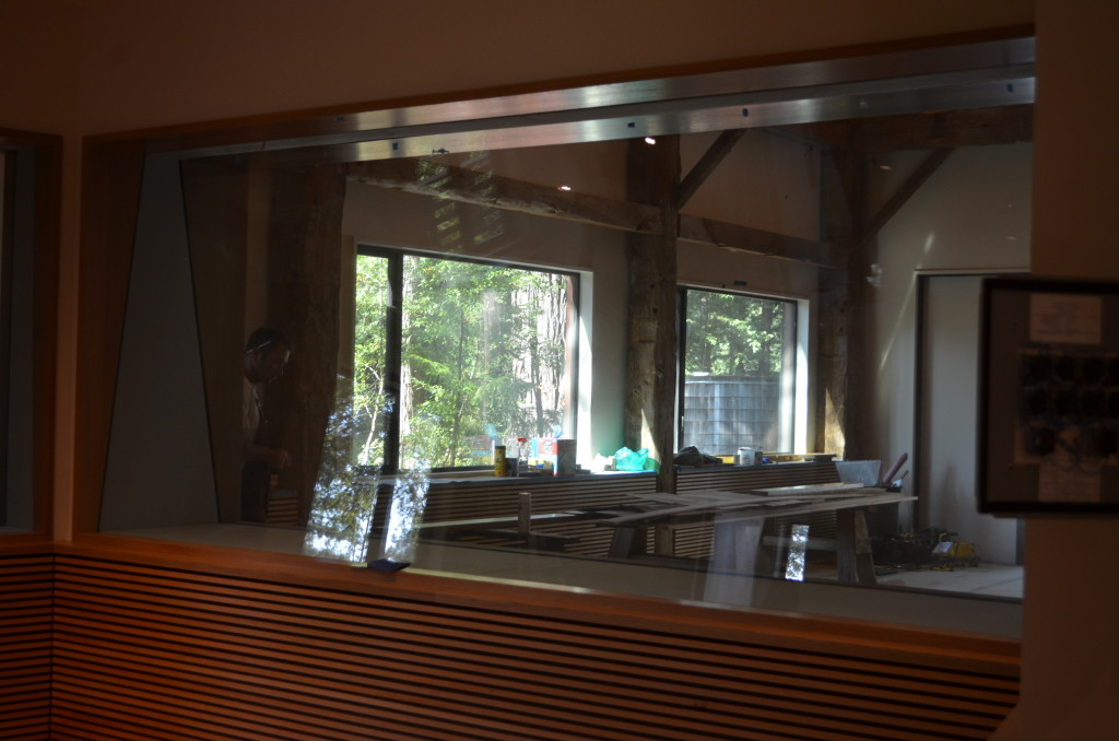 "Sound Studio with Two Separate Pieces of Glass.  One Pane is 3/4"" the other is 1 1/6"" thick and both feature Dupont Sentryglas"
