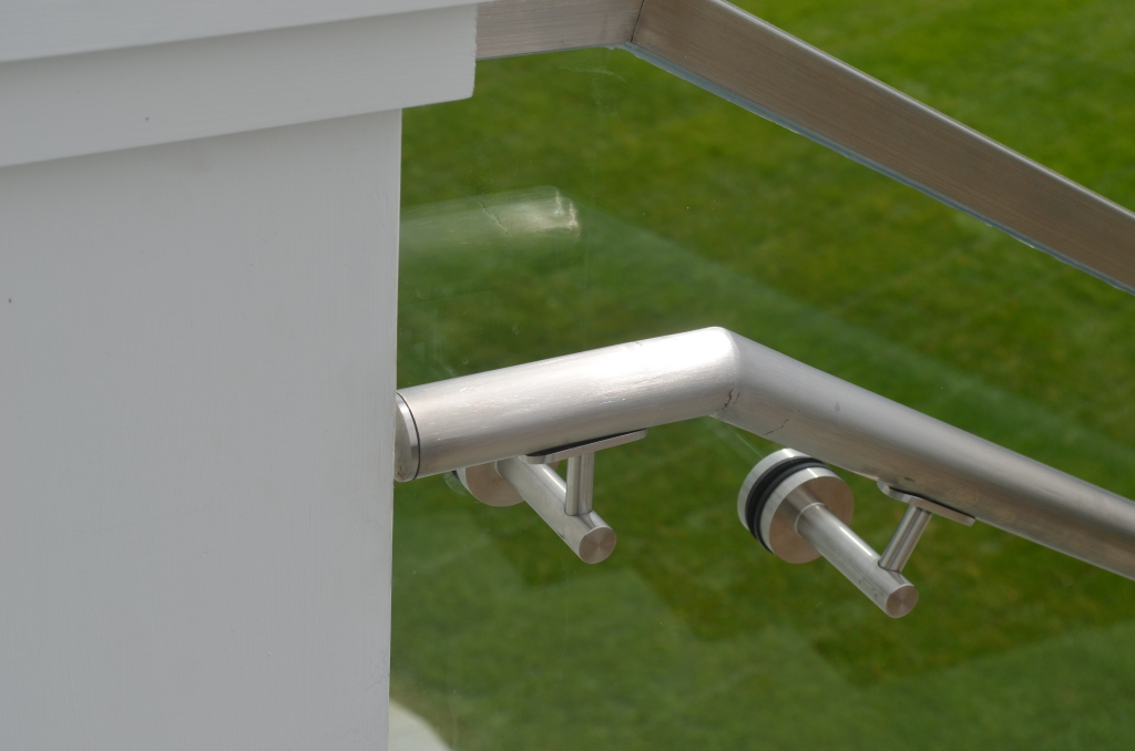 Bracket and Hand Rail Close Up