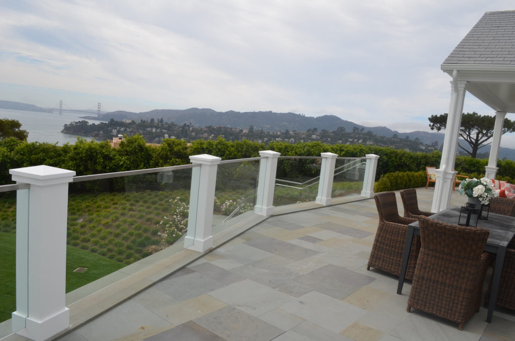 Glass Railing with View of Sausalito