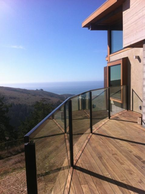 "Ocean View and a Old Town Glass 1/2"" Clear Glass Deck Railing Installation"
