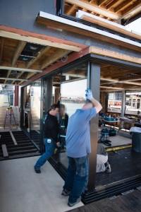 Sky-Frame 90 Degree Corner Door Installation