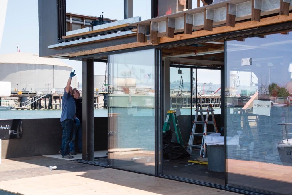 Sky-Frame Corner Door Installation