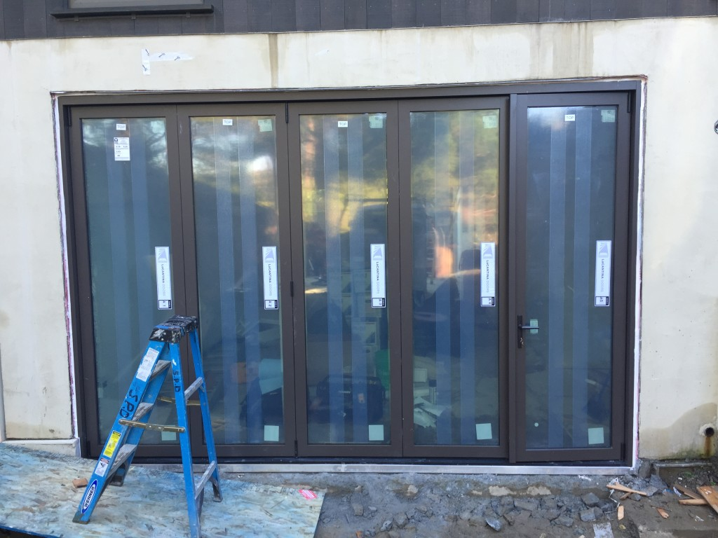 Recent La Cantina Bifold Door Installatiion.  5 Panels
