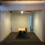 "1/2"" Clear Tempered Glass Conference Rooms with CRL Patch Fitting Hardware"
