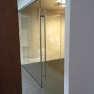 "1/2"" Clear Tempered Glass Conference Room with a 72"" Ladder Pull"